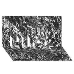 ALUMINUM FOIL HUGS 3D Greeting Card (8x4)