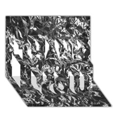 Aluminum Foil Thank You 3d Greeting Card (7x5)