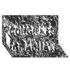Aluminum Foil Congrats Graduate 3d Greeting Card (8x4)