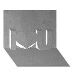 GREY SUEDE I Love You 3D Greeting Card (7x5)