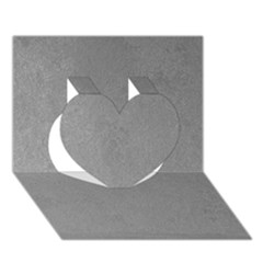 Grey Suede Heart 3d Greeting Card (7x5)
