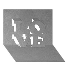 Grey Suede Love 3d Greeting Card (7x5)