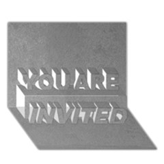 Grey Suede You Are Invited 3d Greeting Card (7x5)