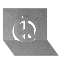 Grey Suede Peace Sign 3d Greeting Card (7x5)