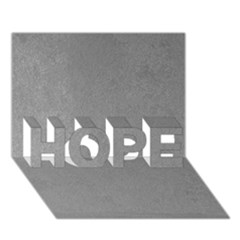 Grey Suede Hope 3d Greeting Card (7x5)