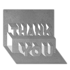 Grey Suede Thank You 3d Greeting Card (7x5)