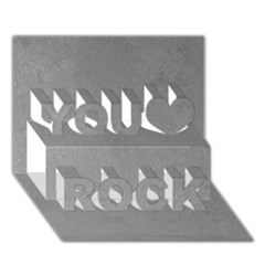 Grey Suede You Rock 3d Greeting Card (7x5)