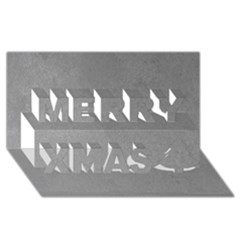Grey Suede Merry Xmas 3d Greeting Card (8x4)