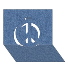 DENIM Peace Sign 3D Greeting Card (7x5)