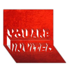 Crushed Red Velvet You Are Invited 3d Greeting Card (7x5)