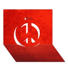 Crushed Red Velvet Peace Sign 3d Greeting Card (7x5)