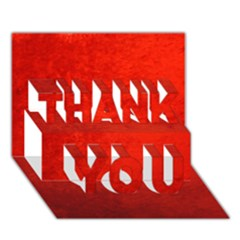 Crushed Red Velvet Thank You 3d Greeting Card (7x5)