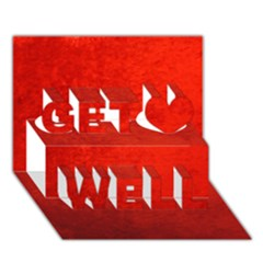 Crushed Red Velvet Get Well 3d Greeting Card (7x5)