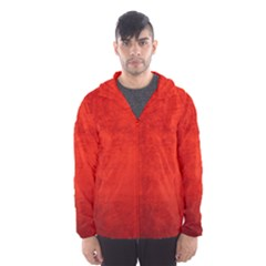 Crushed Red Velvet Hooded Wind Breaker (men)