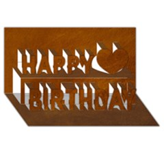 Brushed Suede Texture Happy Birthday 3d Greeting Card (8x4)