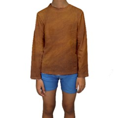 BRUSHED SUEDE TEXTURE Kid s Long Sleeve Swimwear