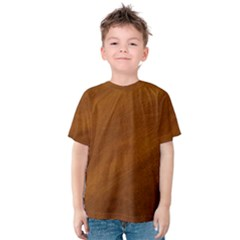 BRUSHED SUEDE TEXTURE Kid s Cotton Tee