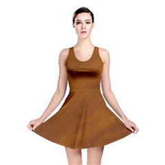 BRUSHED SUEDE TEXTURE Reversible Skater Dresses