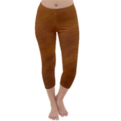 BRUSHED SUEDE TEXTURE Capri Winter Leggings