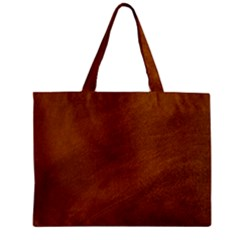 Brushed Suede Texture Zipper Tiny Tote Bags