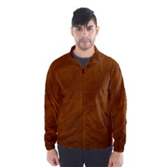 BRUSHED SUEDE TEXTURE Wind Breaker (Men)