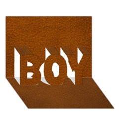 Brown Leather Boy 3d Greeting Card (7x5)