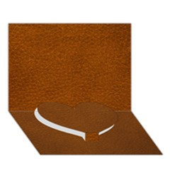 Brown Leather Heart Bottom 3d Greeting Card (7x5)