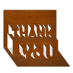 Brown Leather Thank You 3d Greeting Card (7x5)