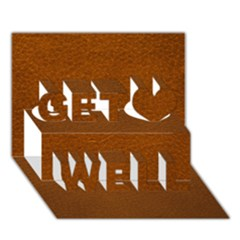 Brown Leather Get Well 3d Greeting Card (7x5)