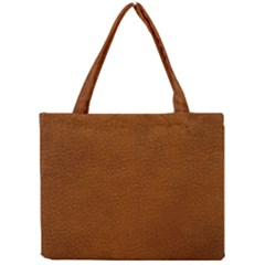 BROWN LEATHER Tiny Tote Bags