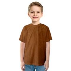 BROWN LEATHER Kid s Sport Mesh Tees