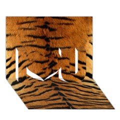 Tiger Fur I Love You 3d Greeting Card (7x5)