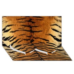 Tiger Fur Twin Heart Bottom 3d Greeting Card (8x4)