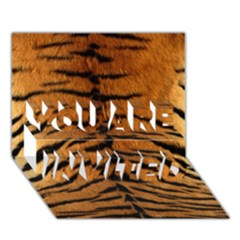 TIGER FUR YOU ARE INVITED 3D Greeting Card (7x5)