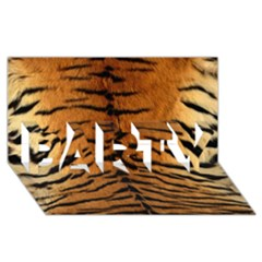 Tiger Fur Party 3d Greeting Card (8x4)