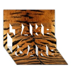 Tiger Fur Take Care 3d Greeting Card (7x5)