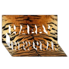 TIGER FUR Happy New Year 3D Greeting Card (8x4)