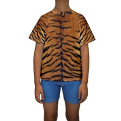TIGER FUR Kid s Short Sleeve Swimwear