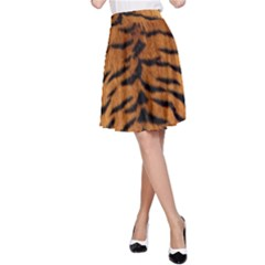 TIGER FUR A-Line Skirt