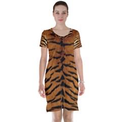 TIGER FUR Short Sleeve Nightdresses