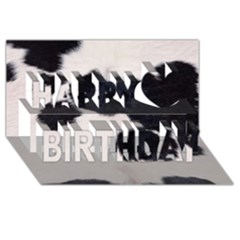 SPOTTED COW HIDE Happy Birthday 3D Greeting Card (8x4)