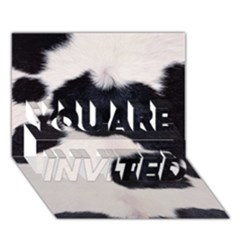 Spotted Cow Hide You Are Invited 3d Greeting Card (7x5)