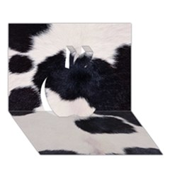 SPOTTED COW HIDE Apple 3D Greeting Card (7x5)