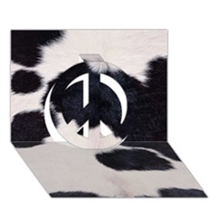 Spotted Cow Hide Peace Sign 3d Greeting Card (7x5)
