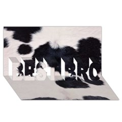Spotted Cow Hide Best Bro 3d Greeting Card (8x4)