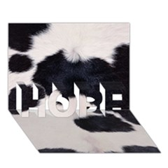 Spotted Cow Hide Hope 3d Greeting Card (7x5)