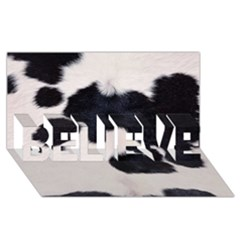 SPOTTED COW HIDE BELIEVE 3D Greeting Card (8x4)