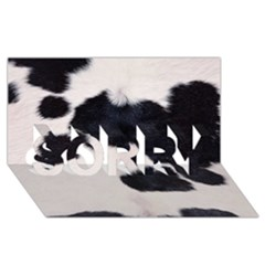 Spotted Cow Hide Sorry 3d Greeting Card (8x4)