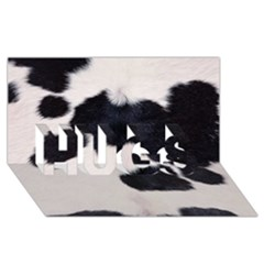 Spotted Cow Hide Hugs 3d Greeting Card (8x4)