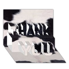 Spotted Cow Hide Thank You 3d Greeting Card (7x5)